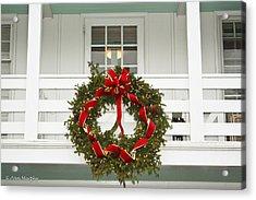 Acrylic Print featuring the photograph Christmas Wreath by Ann Murphy