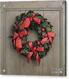 Christmas Wreath Acrylic Print by Bernard Jaubert