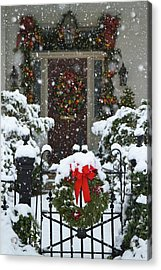 Christmas Wreaths And A Rare Holiday Acrylic Print