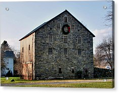 Acrylic Print featuring the photograph Christmastime At The Probst Stone Barn by Gene Walls