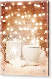 Christmastime Coffee Acrylic Print by Anna Om