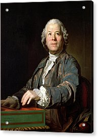 Christoph Willibald Gluck 1714-87 At The Spinet, 1775 Oil On Canvas Acrylic Print by Joseph Siffred Duplessis