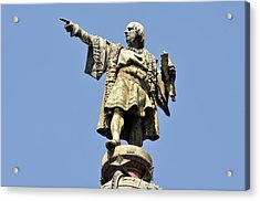 Christopher Columbus Day Statue Acrylic Print