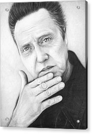 Christopher Walken Acrylic Print by Olga Shvartsur