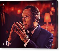 Christopher Walken Painting Acrylic Print by Paul Meijering