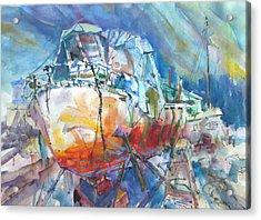 Christo's Boat Acrylic Print