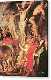 Christ's Side Pierced With A Lance Acrylic Print by Peter Paul Rubens