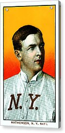Christy Mathewson New York Giants Baseball Card 0100 Acrylic Print by Wingsdomain Art and Photography