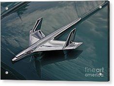 Chrome Airplane Hood Ornament Acrylic Print