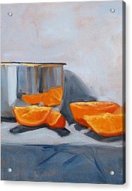 Chrome And Oranges Acrylic Print