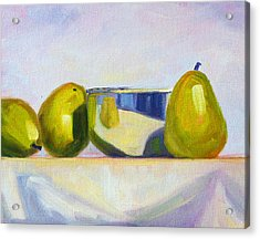 Chrome And Pears Acrylic Print