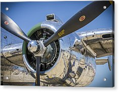Acrylic Print featuring the photograph Chrome And Sky by Bradley Clay