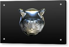 Chrome Cat Acrylic Print