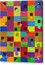 Chronic Tiling Acrylic Print by David K Small