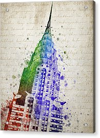 Chrysler Building Acrylic Print by Aged Pixel