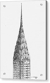 Chrysler Building Acrylic Print by Al Intindola