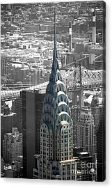 Acrylic Print featuring the photograph Chrysler Building by Angela DeFrias