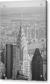 Chrysler Building Black And White Acrylic Print by Robert  Moss