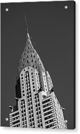 Chrysler Building Bw Acrylic Print by Susan Candelario
