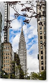 Chrysler Building Acrylic Print by Chris Halford