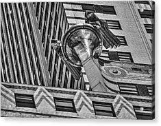 Chrysler Building Gargoyle Bw Acrylic Print