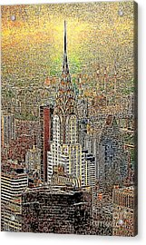 Chrysler Building New York City 20130425 Acrylic Print by Wingsdomain Art and Photography