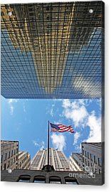 Chrysler Building Reflections Vertical 2 Acrylic Print by Nishanth Gopinathan