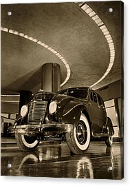 Chrysler Building Showroom Acrylic Print by Underwood Archives