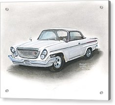 Chrysler Acrylic Print by Heather Gessell