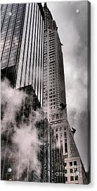 Chrysler Building With Gargoyles And Steam Acrylic Print