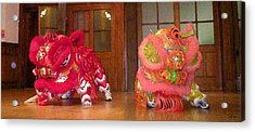 Chua Truc Lam Two Dragons - Dry Brush Acrylic Print by Shawn Lyte