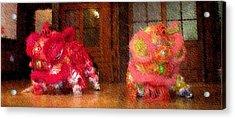 Chua Truc Lam Two Dragons - Fine Brush Acrylic Print by Shawn Lyte