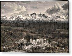 Chugach Mountain Range Acrylic Print