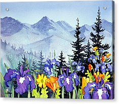 Acrylic Print featuring the painting Chugach Summer by Teresa Ascone