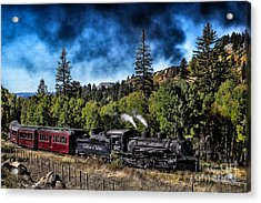 Chugging Along Acrylic Print by Jim McCain