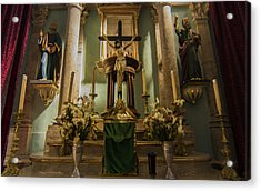 Church Altar Acrylic Print by Aged Pixel
