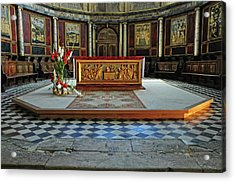 Acrylic Print featuring the photograph Church Alter Provence France by Dave Mills