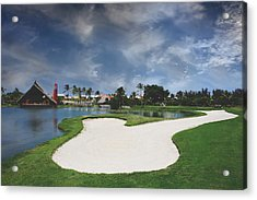 Church And Golf Acrylic Print by Laurie Search