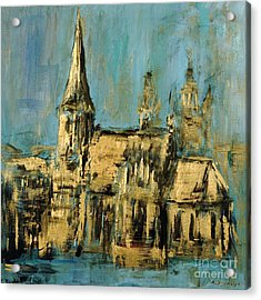 Acrylic Print featuring the painting Church by Arturas Slapsys