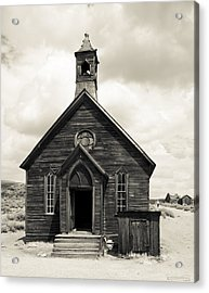 Acrylic Print featuring the photograph Church At Bodie by Jim Snyder