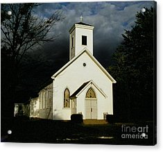 Church At Dusk Acrylic Print by Tom Brickhouse