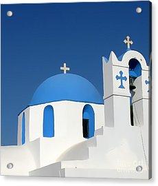 Church At Myconos Acrylic Print