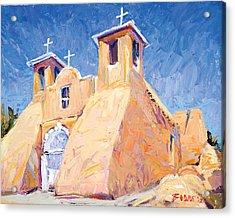 Church At Taos Acrylic Print by Steven Boone