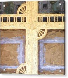 Church Camp House Detail Painterly Series 10 Acrylic Print