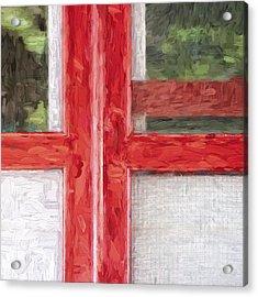 Church Camp House Detail Painterly Series 11 Acrylic Print by Carol Leigh