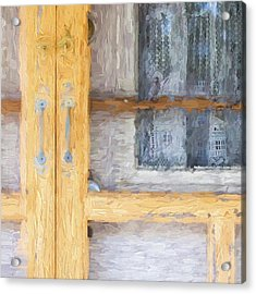 Church Camp House Detail Painterly Series 14 Acrylic Print