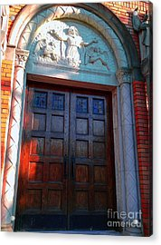 Acrylic Print featuring the photograph Church Door 1 by Becky Lupe