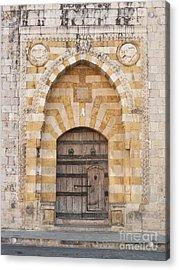Church Door In Beirut Lebanon Acrylic Print