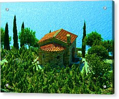 Acrylic Print featuring the photograph Enchanted Church Between Sea And Nature by Giuseppe Epifani