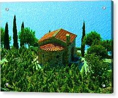 Enchanted Church Between Sea And Nature Acrylic Print